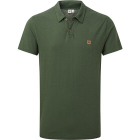 tentree Hemp Polo Shirt Men forest green